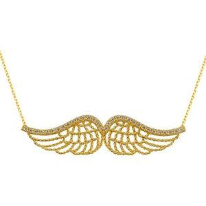 Jewelry - CZ Wings Pendant on 14k Gold Chain